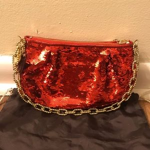 Red Sequin Coach Purse